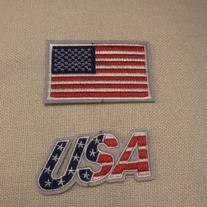 U.S.A patriotic iron on patches